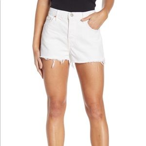 Grlfrnd karlie denim shorts white size 27